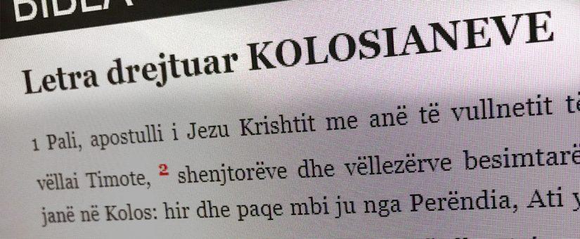 "Seria ""Letra drejtuar Kolosianve"""
